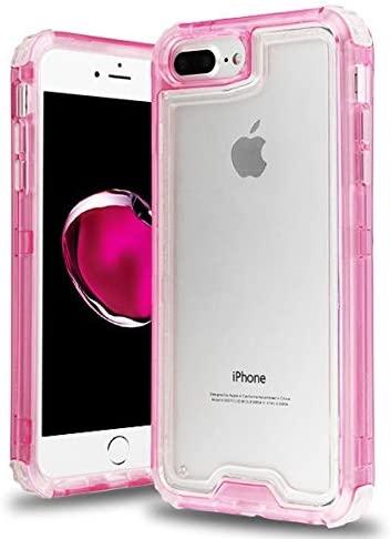 Airium Hybrid Protector Cover for Apple iPhone 8 Plus7 Plus iPhone 6s Plus6 Plus - Transparent Pink Transparent Clear