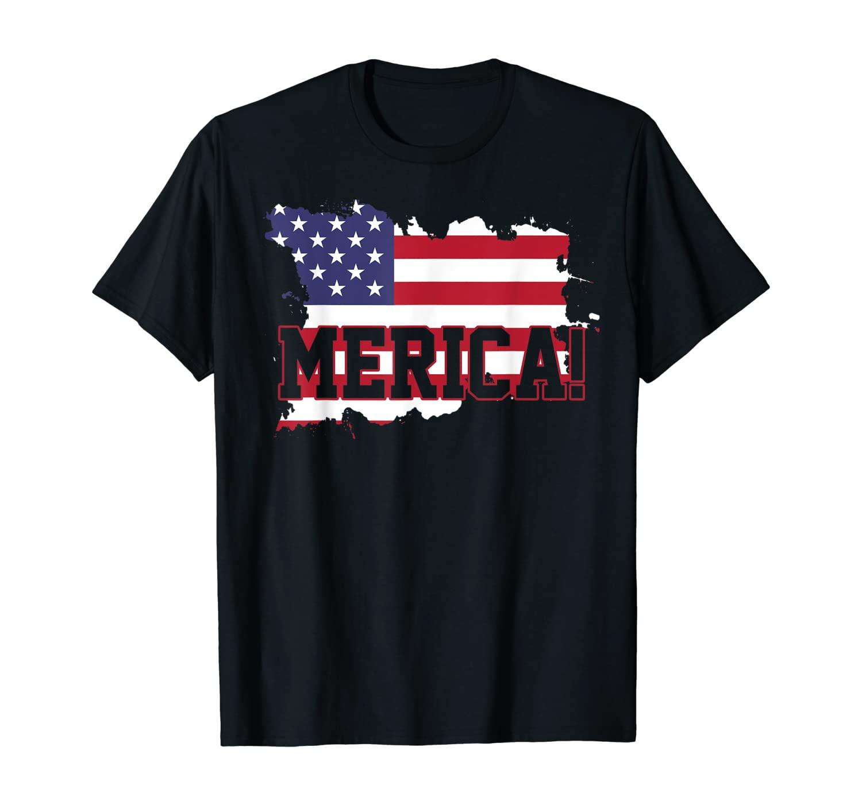 USA Flag American Merica 4th Of July Patriodic Gift T-Shirt