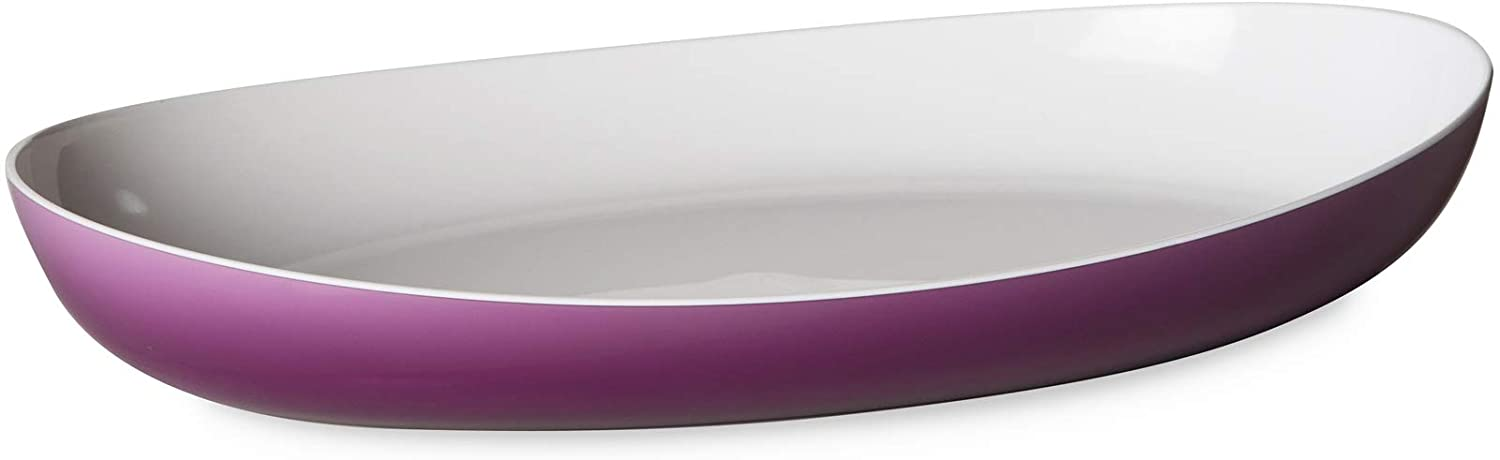 Omada Design serving plate or baking dish 11,02 x 6,69 inch with inside white and outside colored, Trendy Line