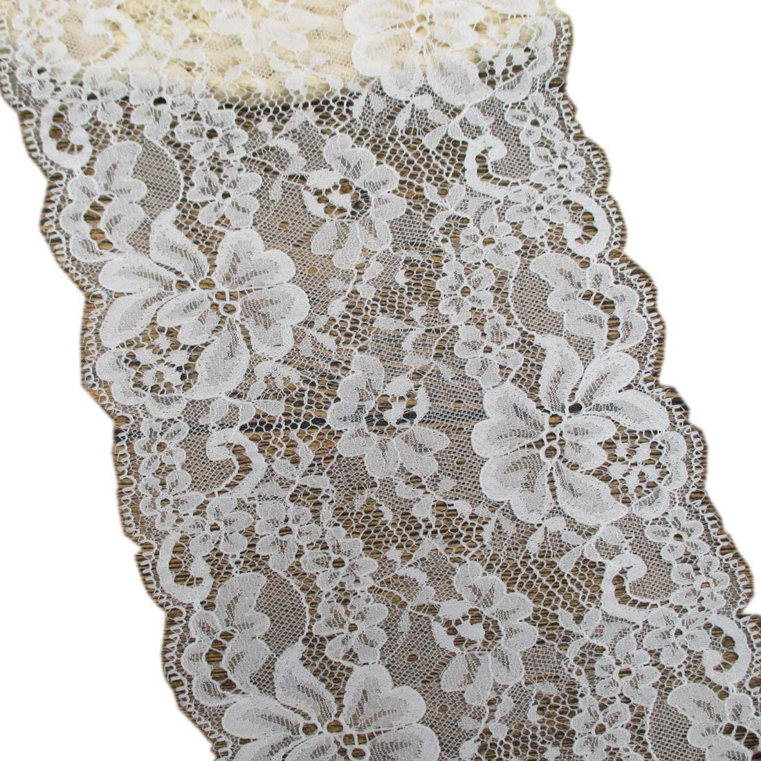 Trimscraft 5-1/2 Inch Wide Lace Trims Fabric for Sewing Home Decoration Wedding Accessory Pack of 10 Yards