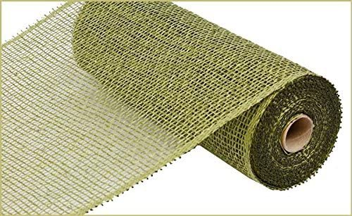 Poly Burlap Deco Mesh, 10 x 10 Yards (Olive Green)