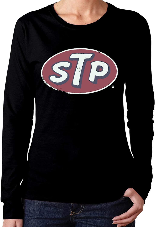 HIPGCC STP Long Sleeve Shirts for Women Casual Black t Shirt