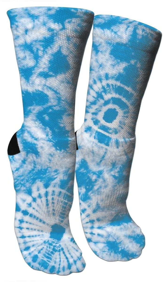 antspuent DIY Tie Dye Compression Socks Unisex Fun Novelty Crazy Dress Crew Socks