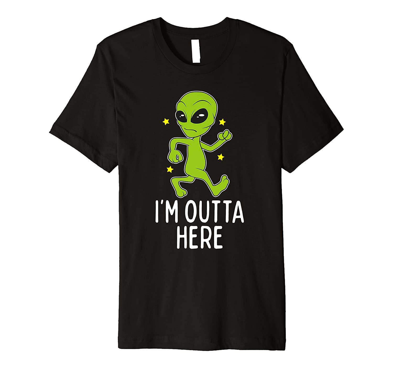 I'm Outta Here Alien - Storm Area 51 Alien Running Away Premium T-Shirt