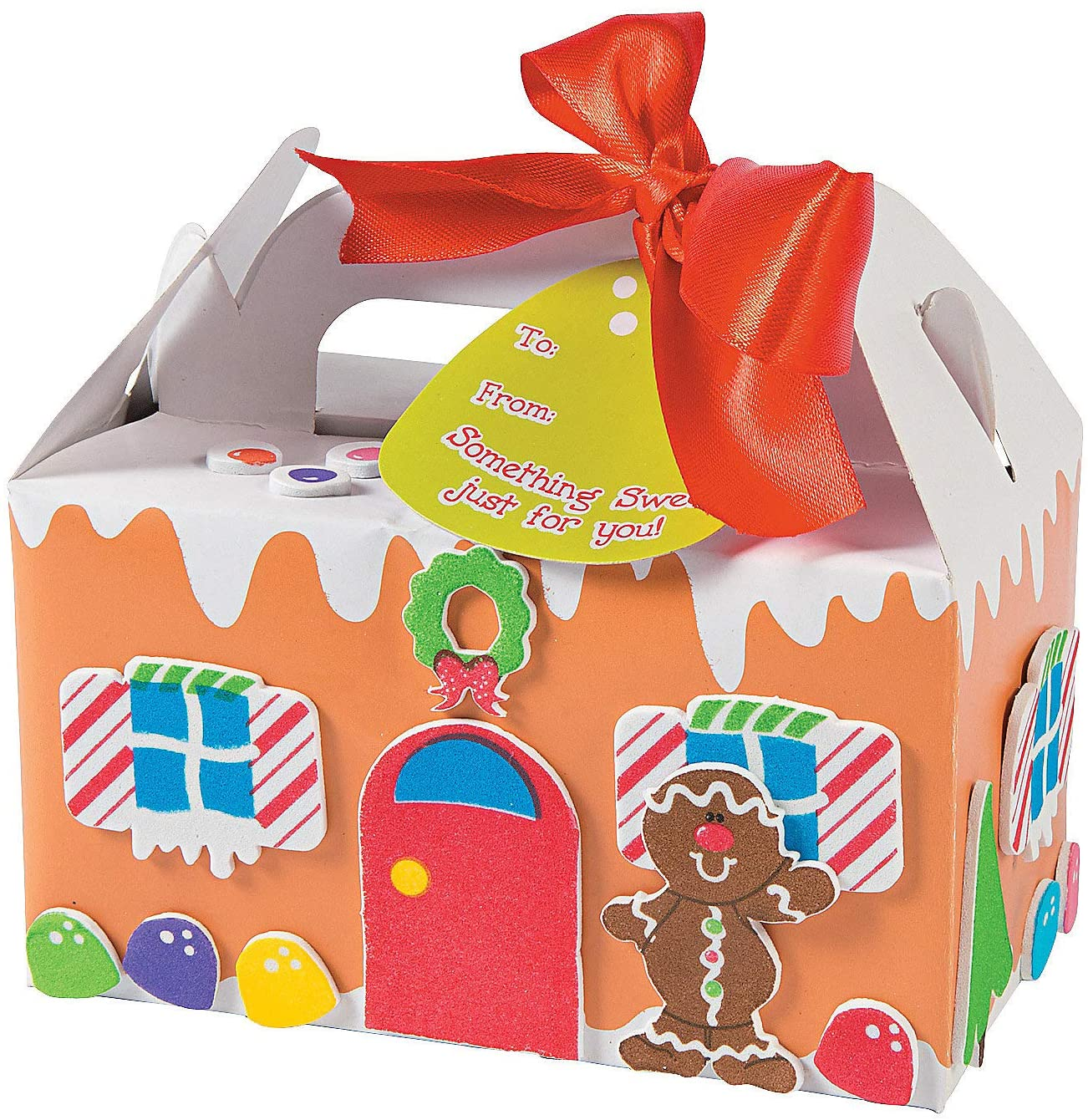 Gingerbread Treat Box Kids Craft Kit - Crafts for Kids and Fun Home Activities