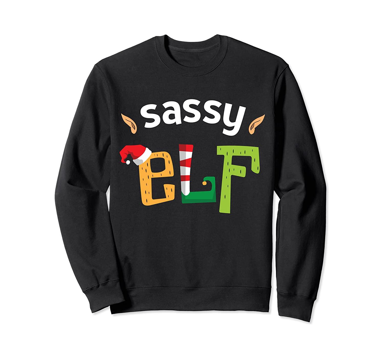 I'm The Sassy Elf Squad Christmas Elves Matching Family Sweatshirt