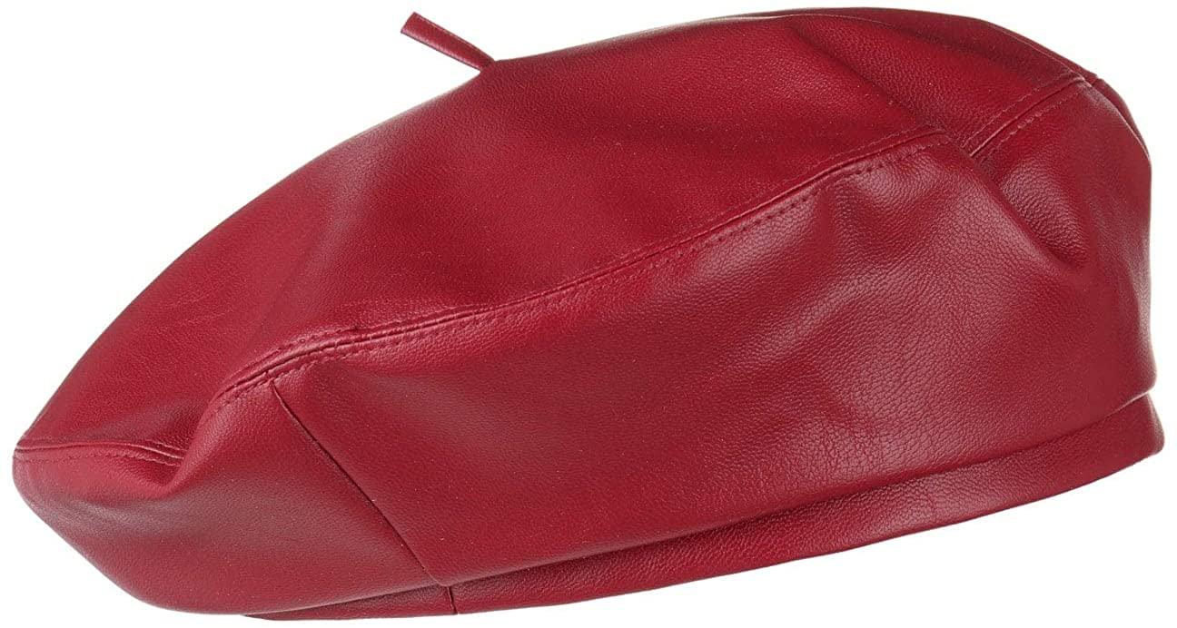 Lipodo Faux Leather Beret Women/Men |