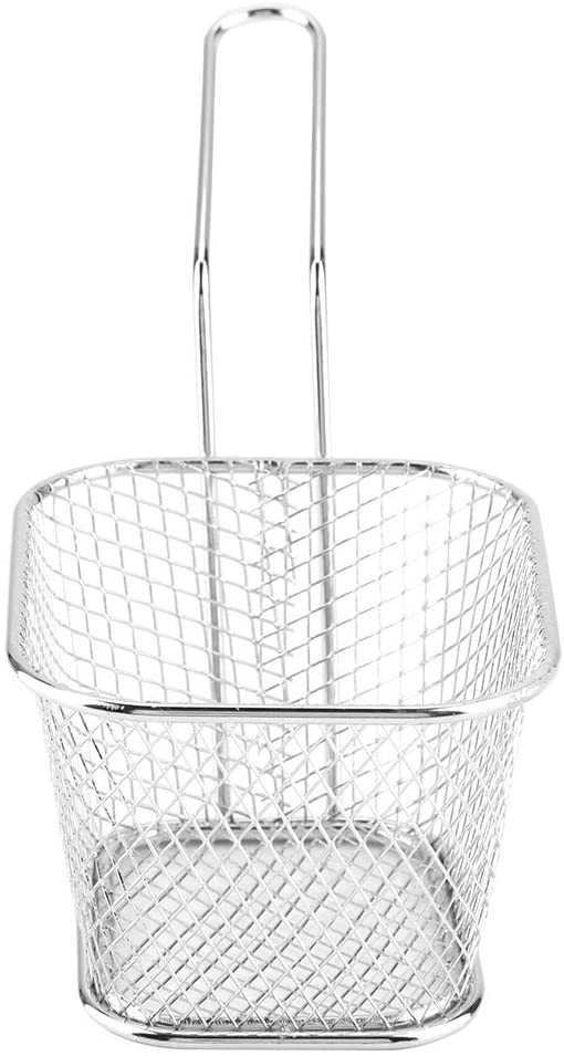 Anti-Rust Net Strainer, Practical Wire Fry Basket, Stainless Steel for Cafe, Restaurant or Your Home Use French Fries, Onion Rings