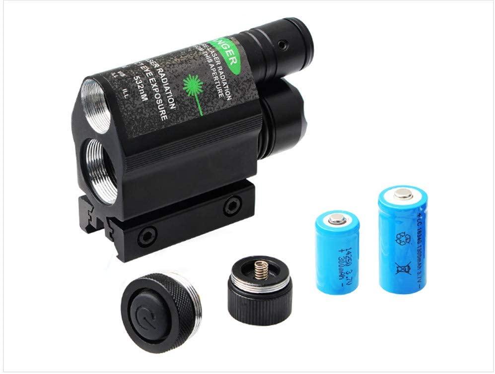 Aofei Flashlight Green Light Sight,Combo 3 ModeGreen Laser Sight,with 250 Lumen LED Flashlight and Pressure Switch Pad.