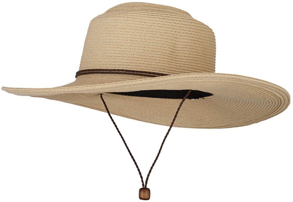 Women's Paper Straw Wide Brim Sun Hat