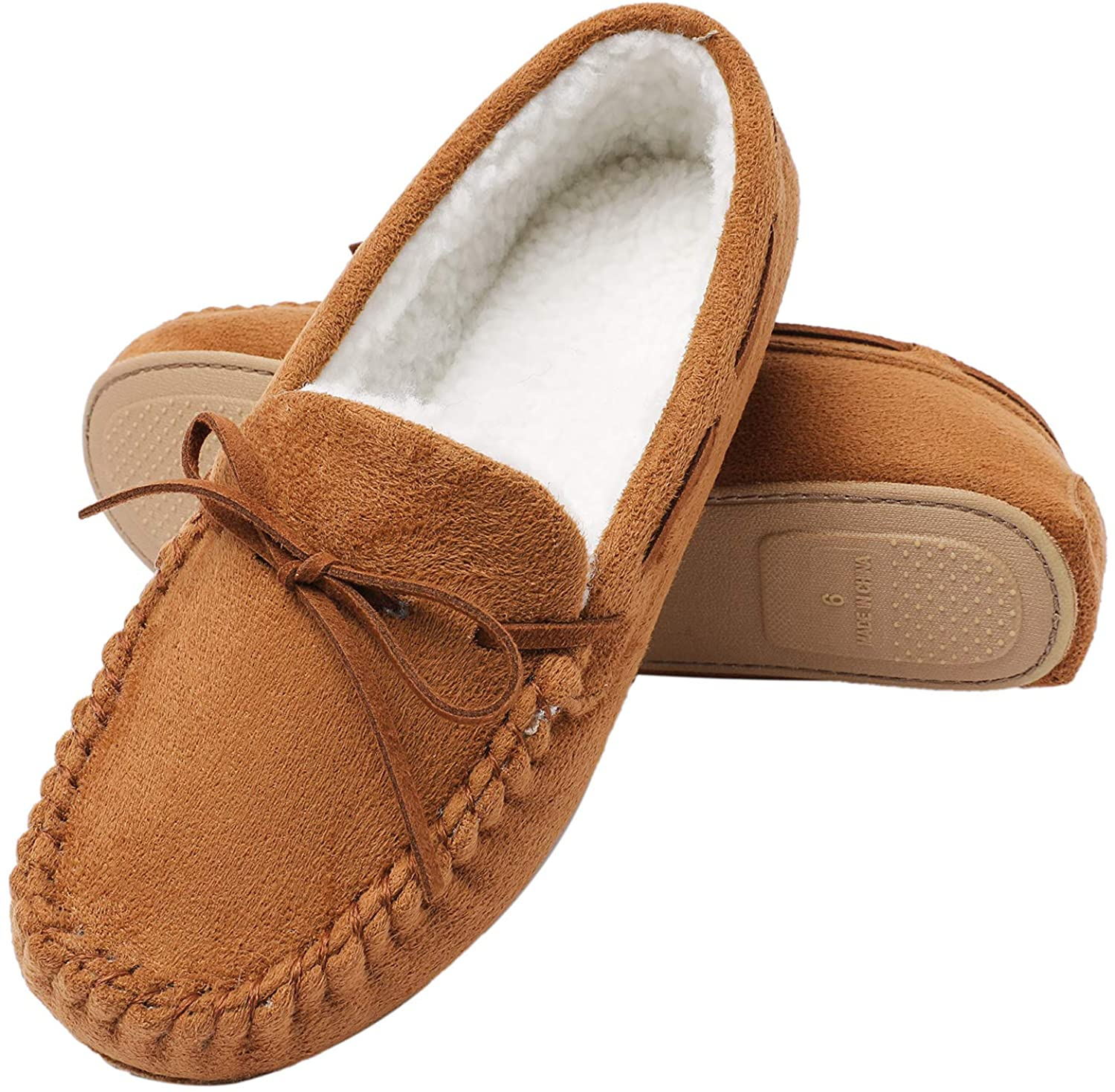 Veittes Womens House Slippers - Moccasins Slip On Soft Comzy Winter Indoor Shoes.