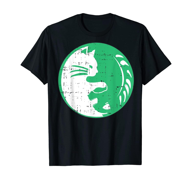 Area-51 Alien Cat Yin Yang Easy Lazy Kitten Halloween Gift T-Shirt
