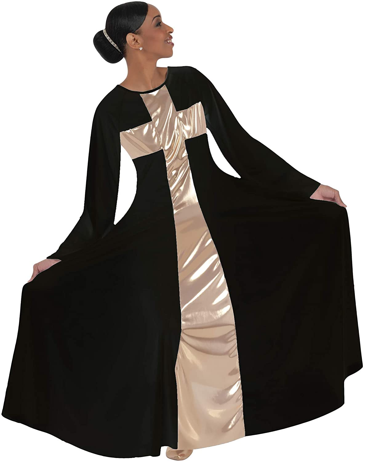 Body Wrappers Womens Praise Cross Long Worship Dress - 620