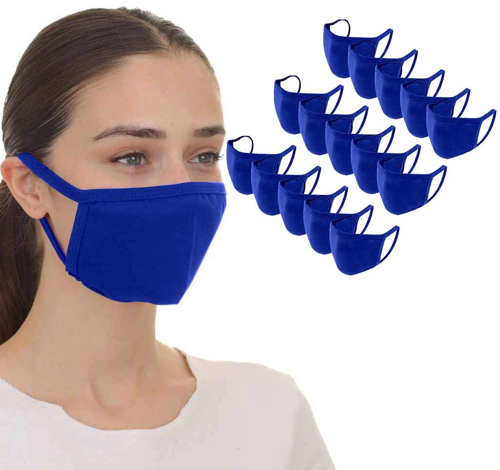 Bridaer Adults Solid Color Face_Mask, Reusable & Breathable Comfy Cloth Fabric, Sunscreen Face Protect Bandanas, Anti-Haze Dust, for Outdoor, Cycling, Public