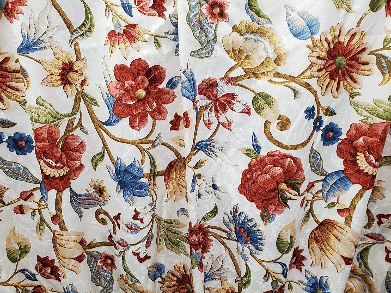 The_Curtain_Shop Braddock Jacobean Thermal Damask Pinch Pleat Drape Pair 48Wx84L