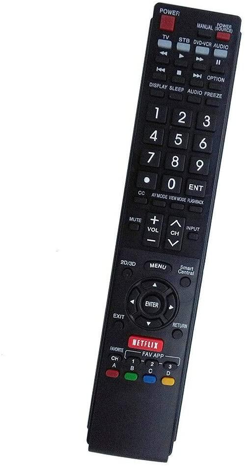NKF Remote for Sharp TV LC-60LE661U LC-60EQ30U LC-70LE661U LC-70EQ30U LC-80LE661U