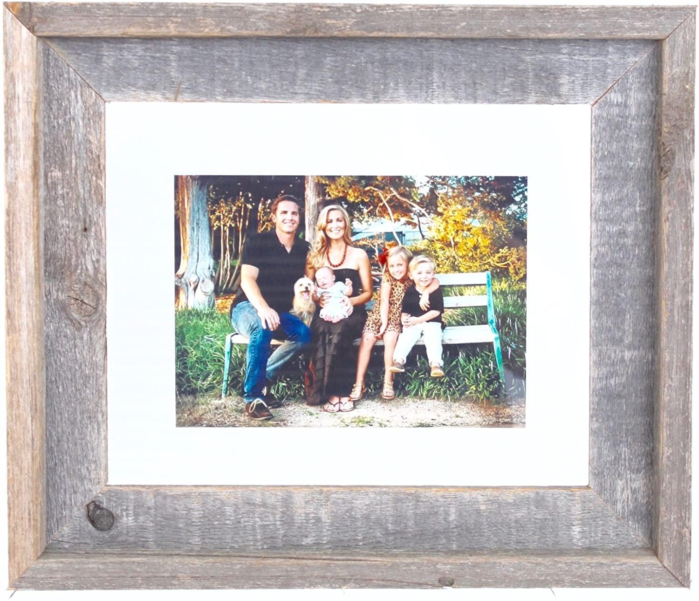 BarnwoodUSA 18x24 Signature Reclaimed Wood Float Frame Designed for 16x20 or Smaller Photograph, Artwork