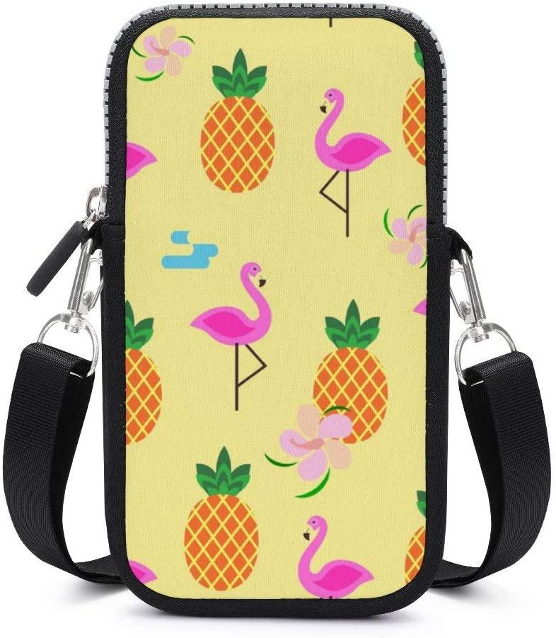 NiYoung Women Girls Small Crossbody Cell Phone Purse, Pineapples Skull, Lightweight Fashion Messenger Shoulder Bag Handbag Wallet Purse for Travel Work Shopping