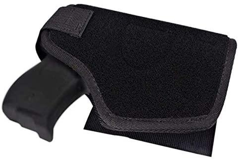 Yungu Tactical Bed Pistol Holster, Bedside Handgun Holster, Mattress Gun Holster Universal with Flashlight Loop