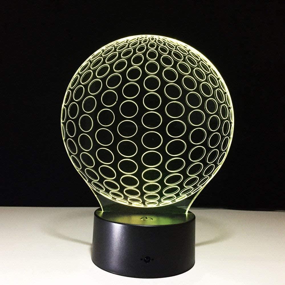 KLJLFJK 3D Lamp USB Led Night Lights Football 2017 Lamp Night Led Lamp Lighting for Under Kitchen Cabinets with Remote Control