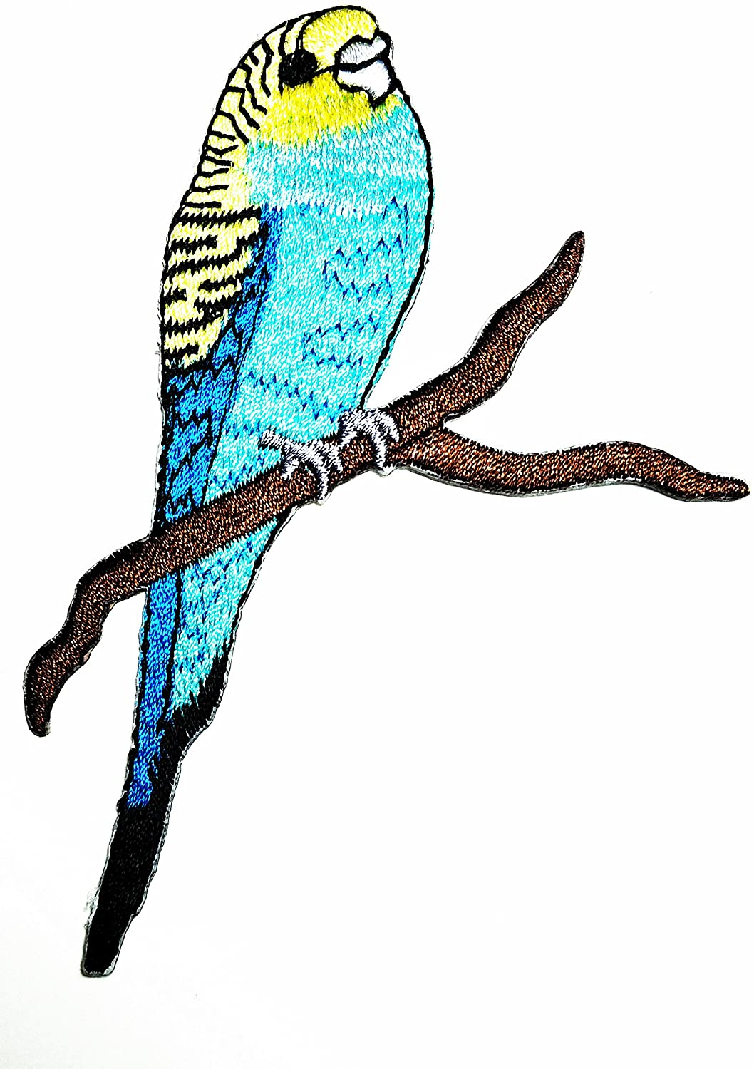 HHO Blue Parrots psittacines Bird Animal patch Parrot Red Bird Embroidered cartoon Patch Embroidered DIY Patches, Cute Applique Sew Iron on Kids Craft Patch for Bags Jackets Jeans Clothes