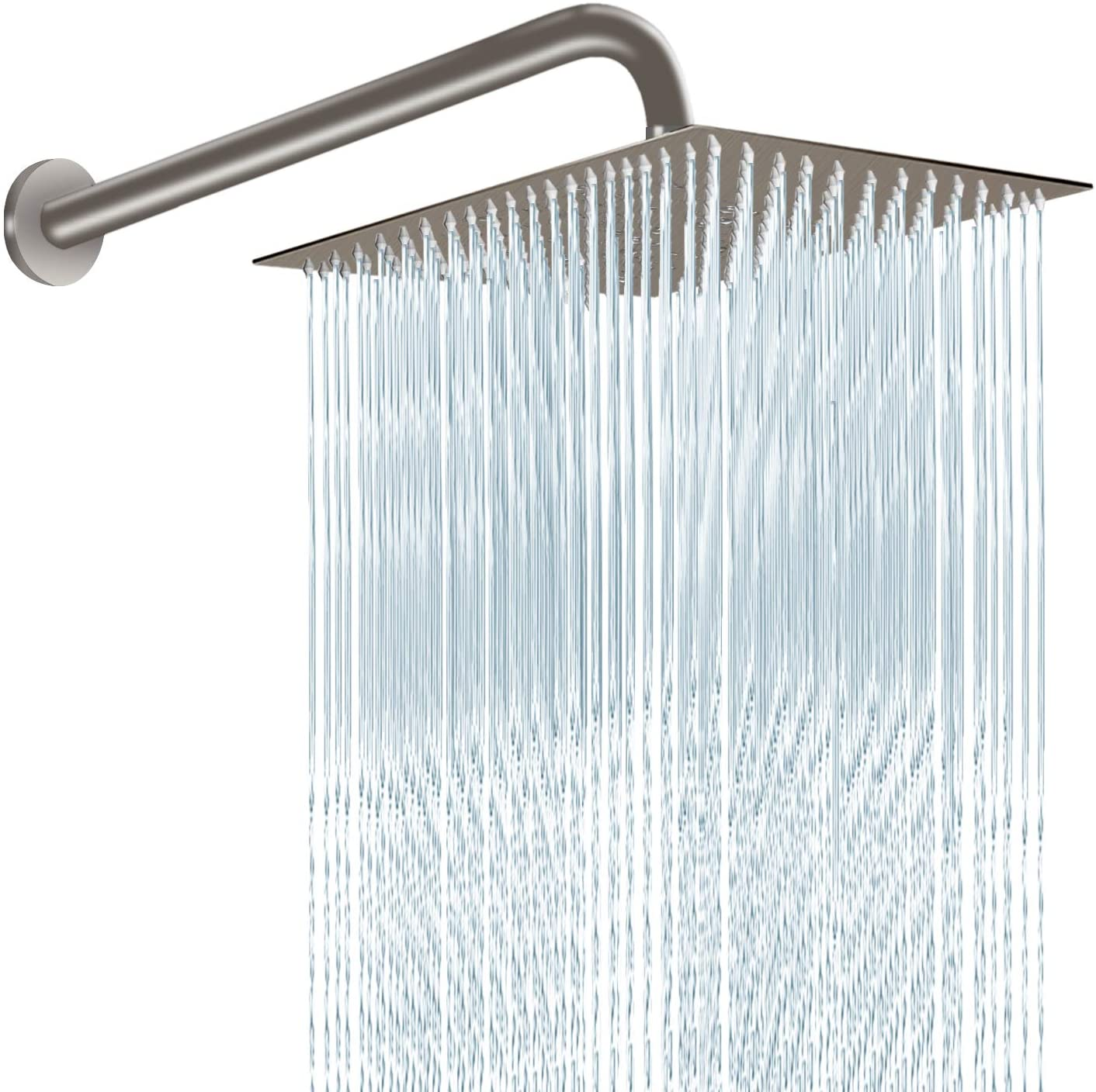 12 Inch Shower Head with 15 Inch Arm Brushed Nickel