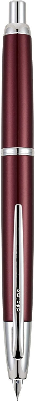 PILOT Vanishing Point Decimo Refillable & Retractable Fountain Pen, Burgundy Barrel with Rhodium Accents, Medium Nib (65342)