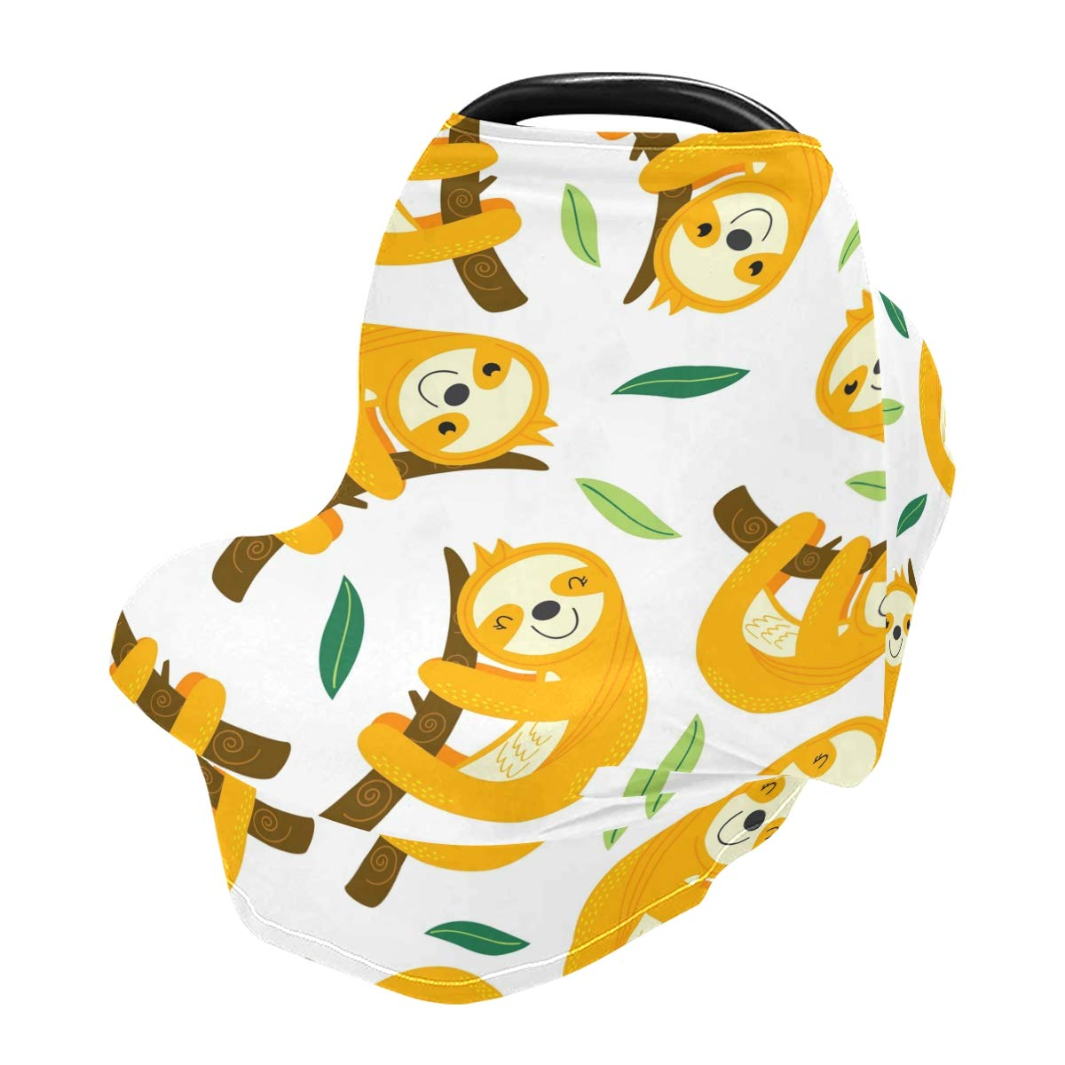 Nursing Cover Breastfeeding Scarf Sloth - Baby Car Seat Covers, Infant Stroller Cover, Carseat Canopy for Girls and Boys(801c)