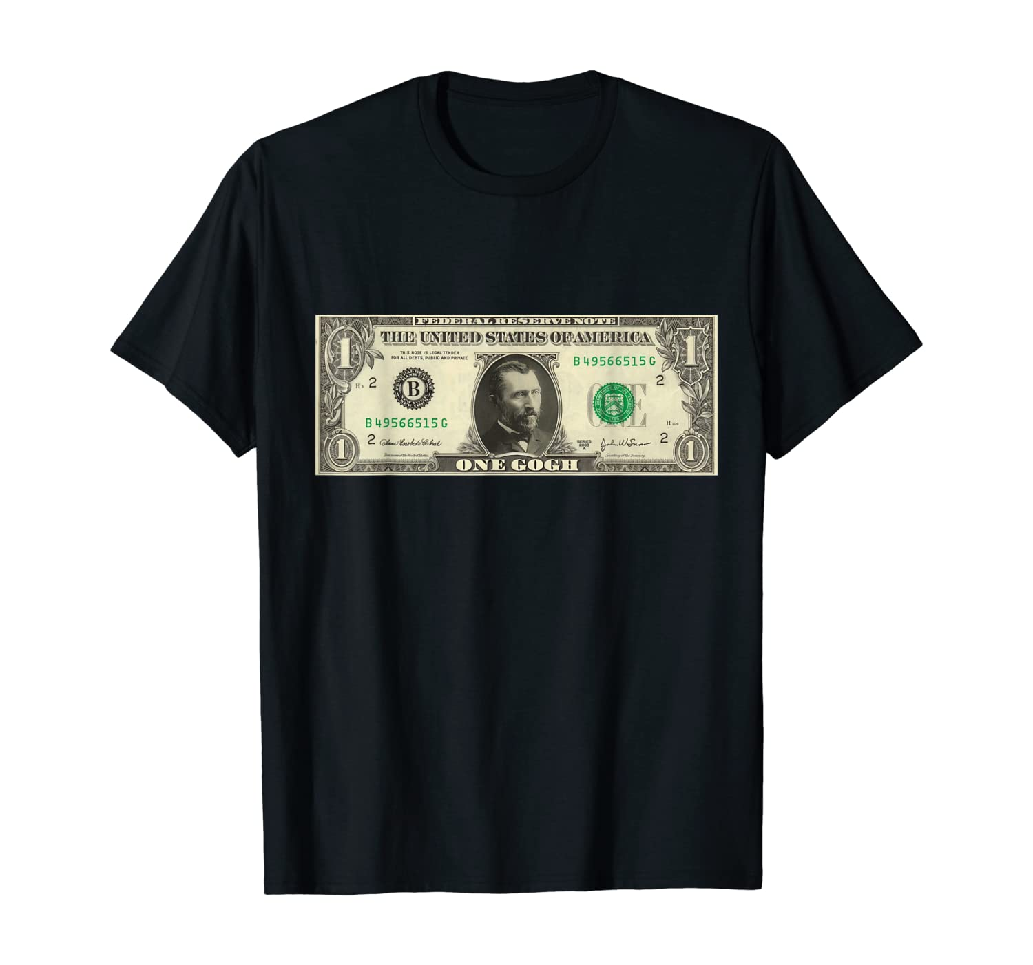 Fanny Van Gogh One Dollar Funny Art T-Shirt