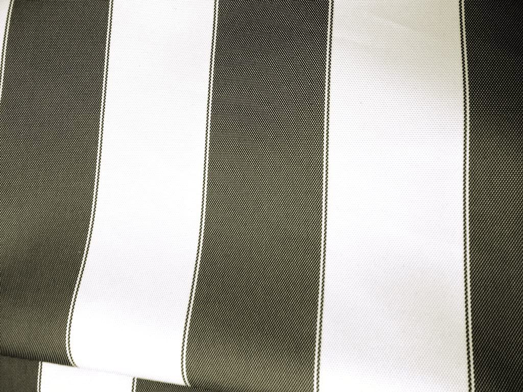 Waterproof Outdoor Canvas Stripes Black and White 60 Inch Wide Fabric by The Yard from The Fabric Exchange