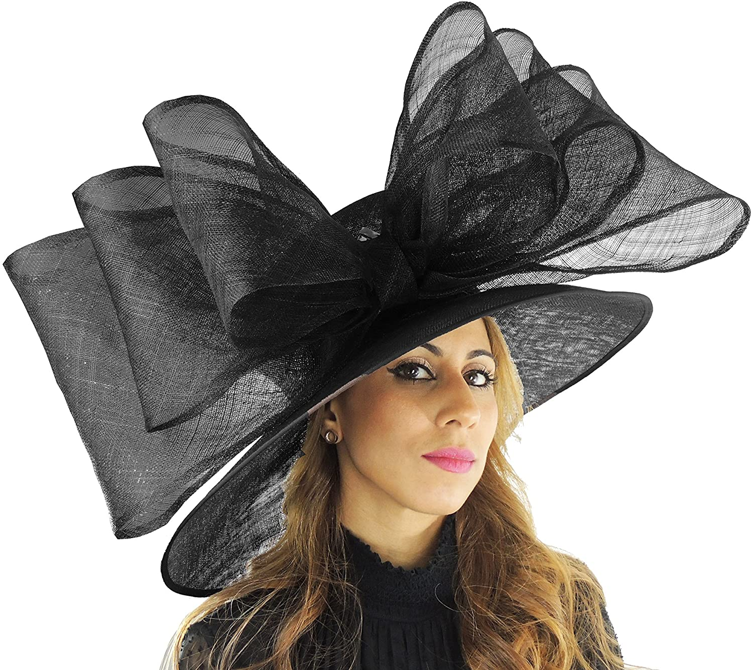 Hats By Cressida Large Kentucky Derby Hat in Black