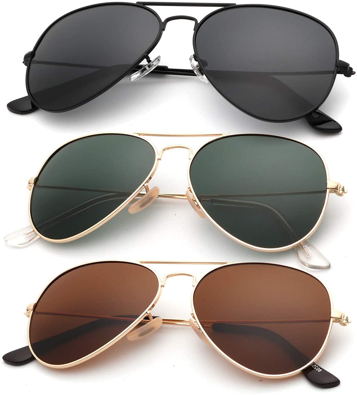 KALIYADI Classic Aviator Sunglasses for Men Women Driving Sun glasses Polarized Lens 100% UV Blocking
