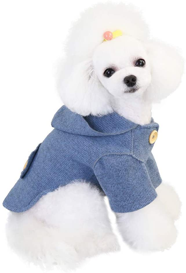 GorNorriss Solid Color Pet Dogs Sweatshirt Hoodied- Dog Sweater Warm Winter Clothes Dog Coats for Small Medium Dogs