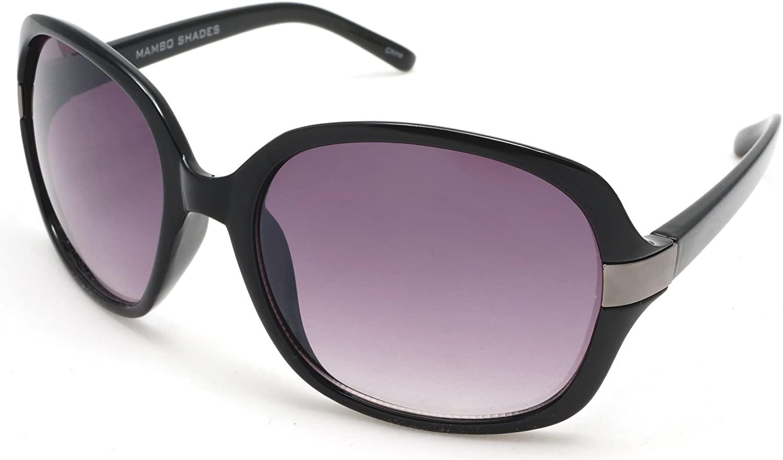 Women's Oversized Round Retro Fashion Sunglasses Claudette Colbert Mambo Diva