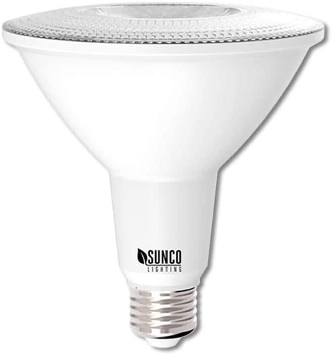 Sunco Lighting PAR38 LED Bulb 13W=100W, 5000K Daylight, 1050 LM, Dimmable, Indoor/Outdoor Spotlight, Waterproof - UL & Energy Star Listed