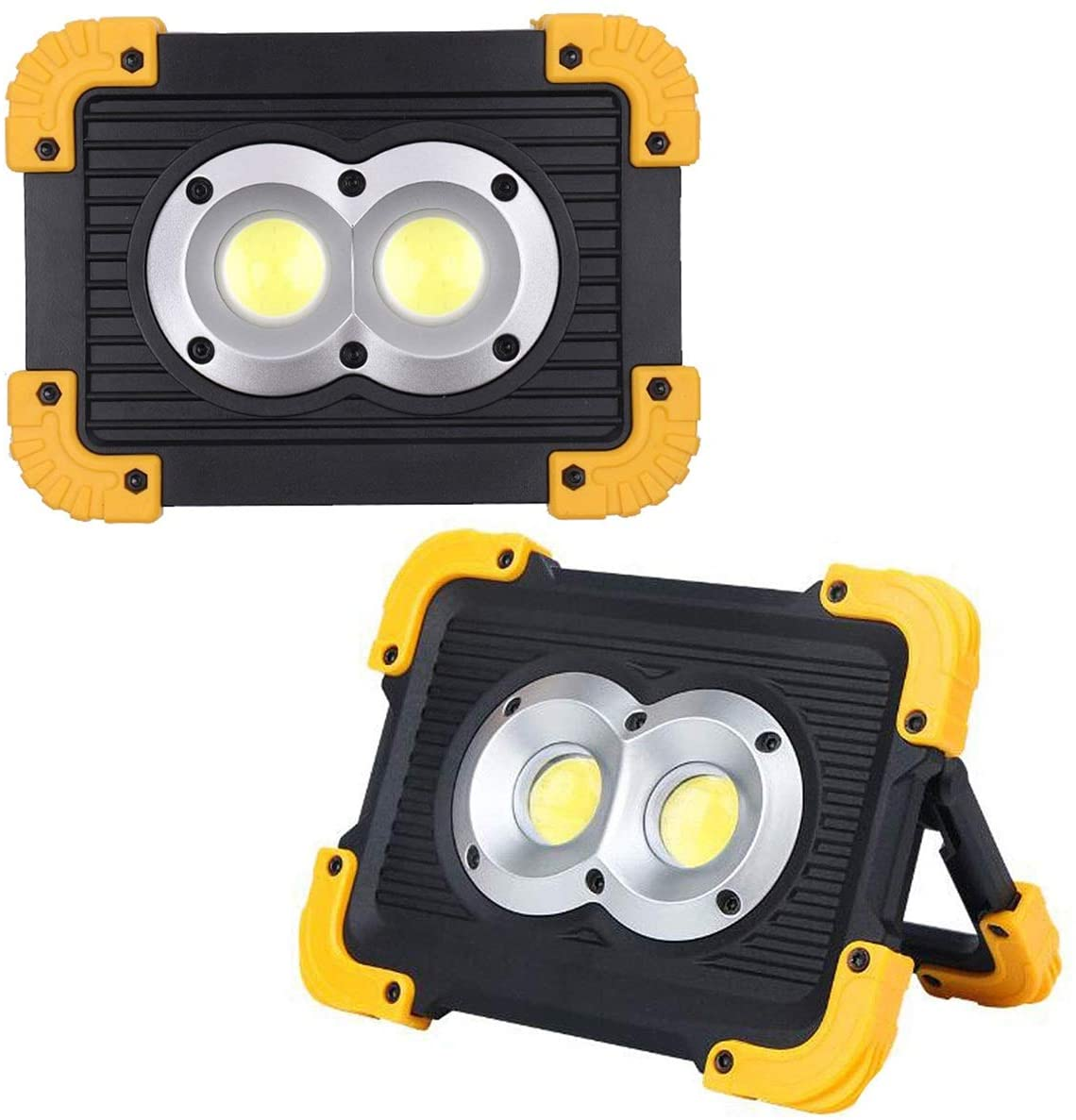 20W COB LED Work Light Portable Waterproof Work Light with USB Port to Charge Mobile Devices for Outdoor Camping Emergency Repairing