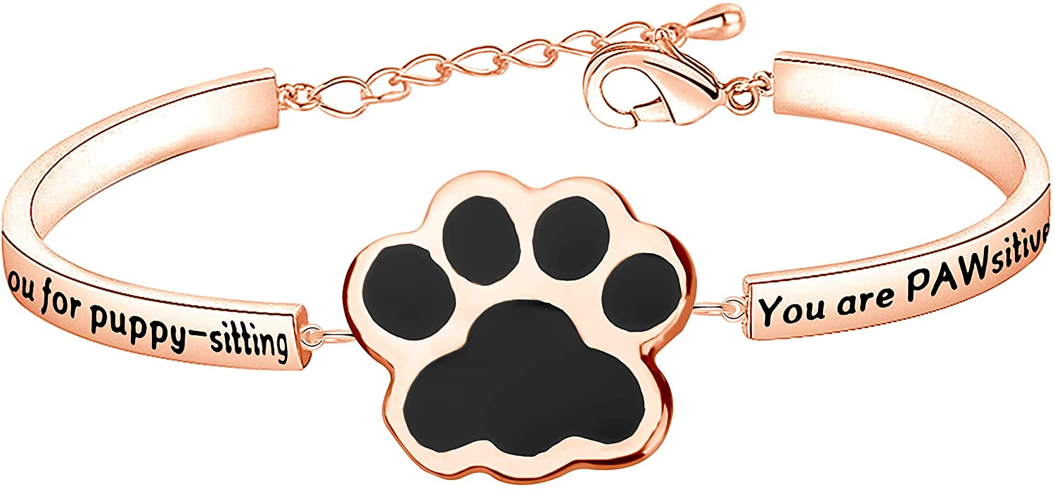 MAOFAED Dog Groomer Gift Dog Sitter Gift Vet Tech Gift Thank You Gift Veterinary bracelet Thank You For Puppy Sitting You Are The PAWsitivel The Best