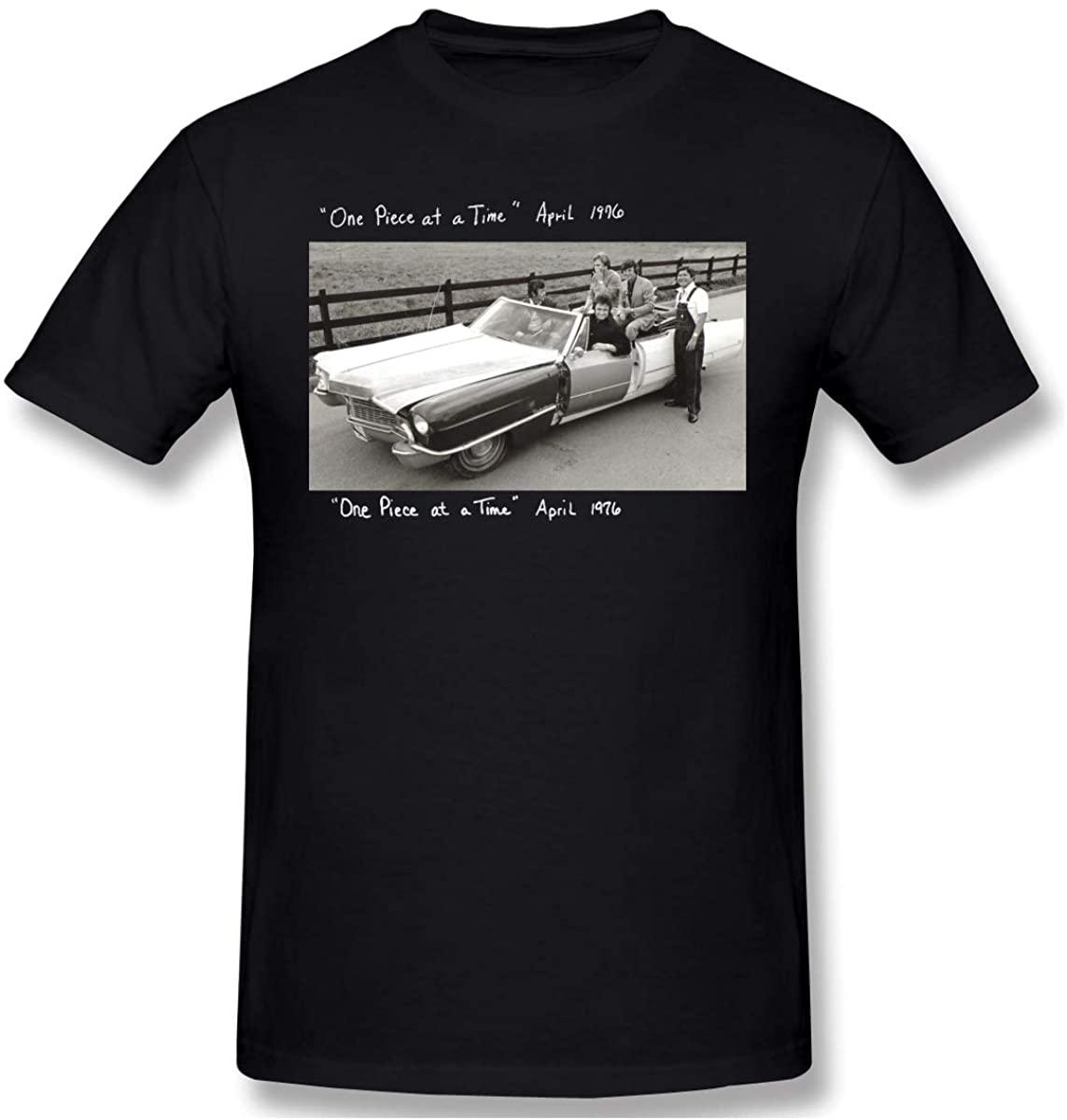 Bob L Barrera Johnny Cash One Piece at A Time Leisure Mans Short-Sleeve T-Shirt XXL Black