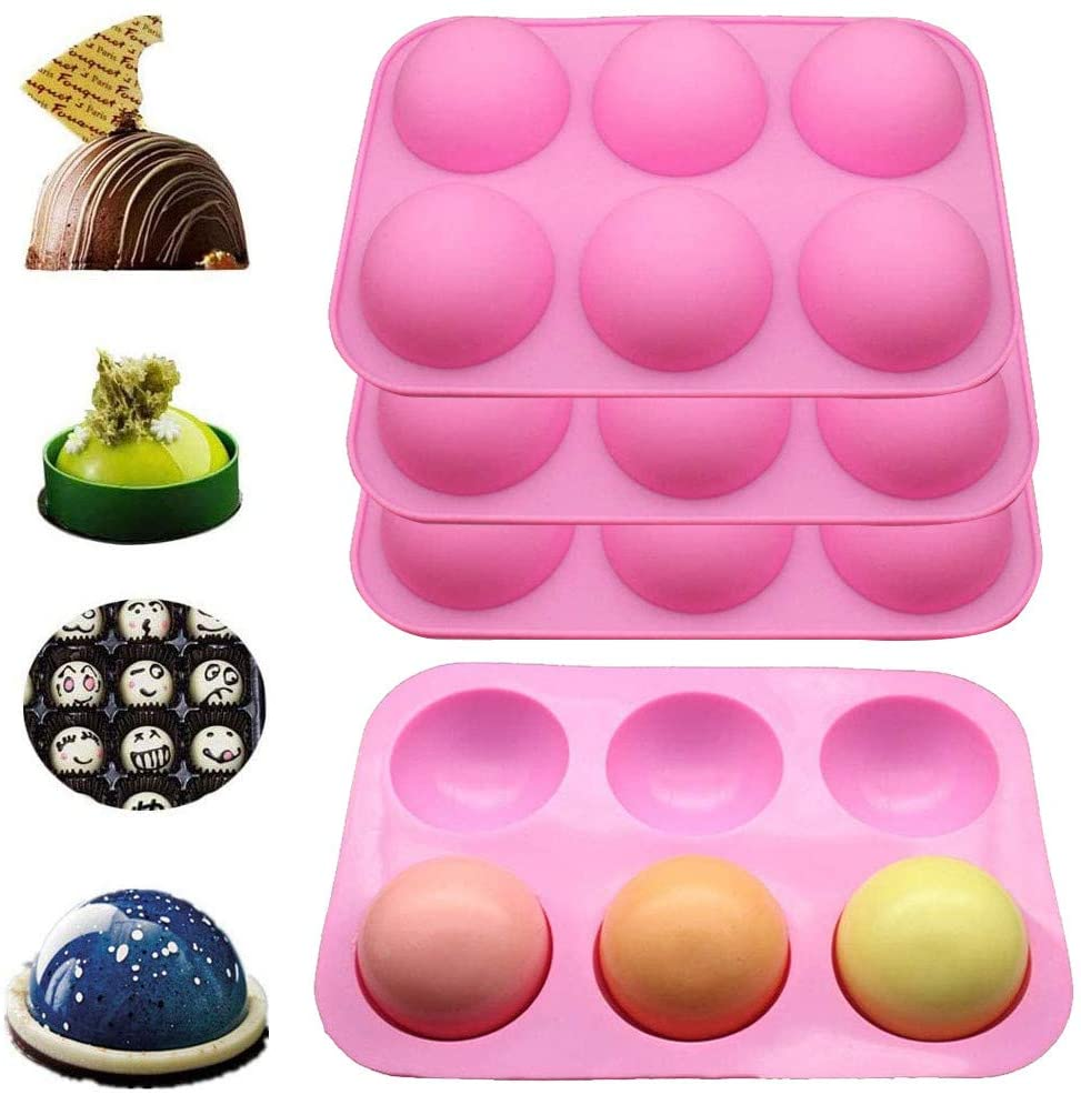 3 Pcs Silicone Mold For Handmade Soap Chocolate Cookie jelly Pudding Cake Baking Tools Biscuit Molds