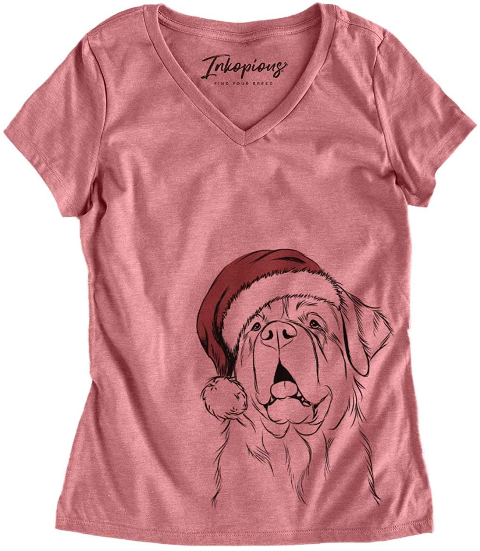 Christmas Atlas The Saint Bernard Dog Triblend T-Shirt