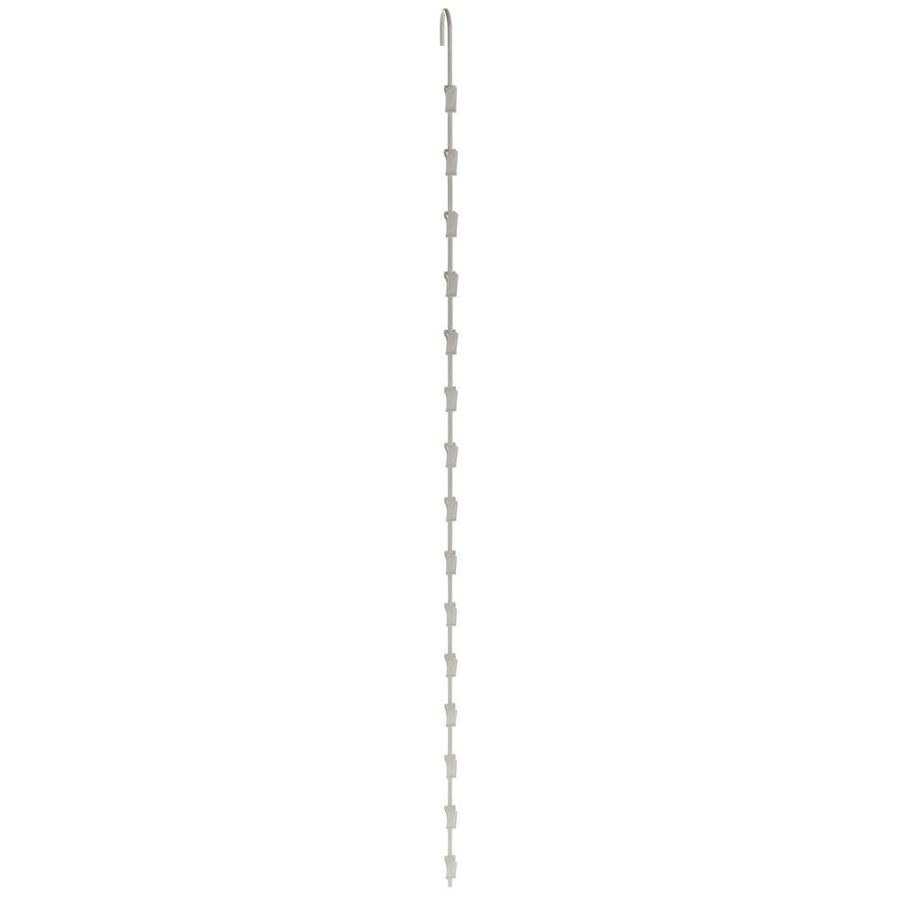HUBERT Hanging Display Strip with Clips Beige - 39