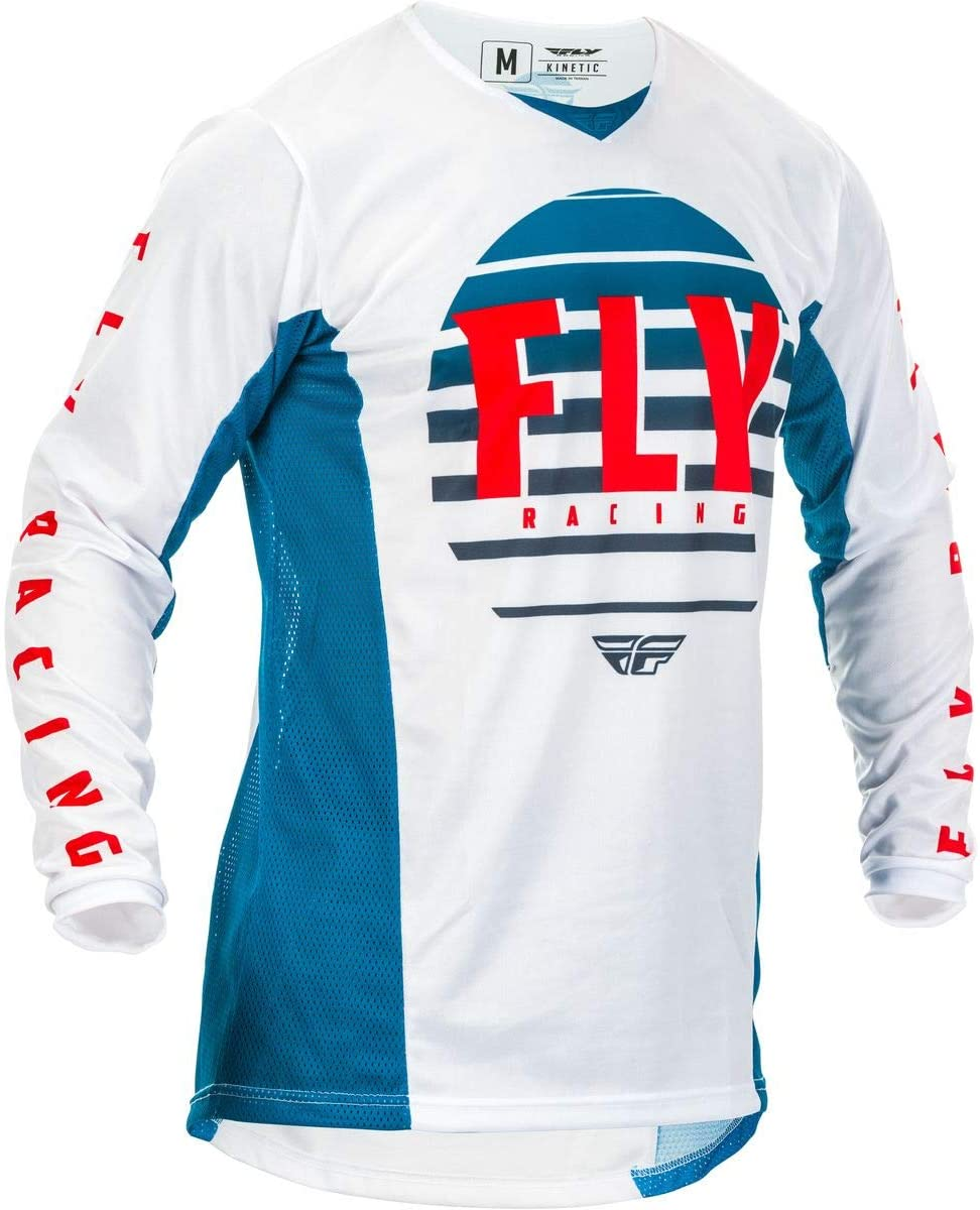 Fly Racing 2020 Youth Kinetic Jersey - K220 (Large) (Blue/White/RED)