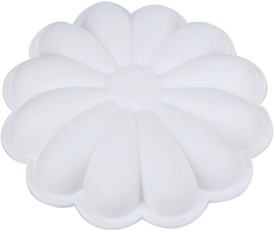 Cake Mold, Non-Stick Flower-Shaped Silicone Baking Pan Chocolate Cake Mold DIY Baking Mold Suitable for Dessert, Mousse, Bread, Use for Freezer, Microwave, Oven