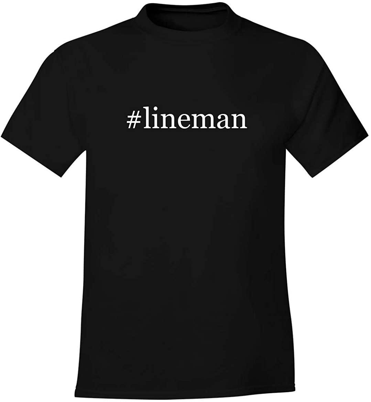#lineman - Men's Soft Comfortable Hashtag Short Sleeve T-Shirt