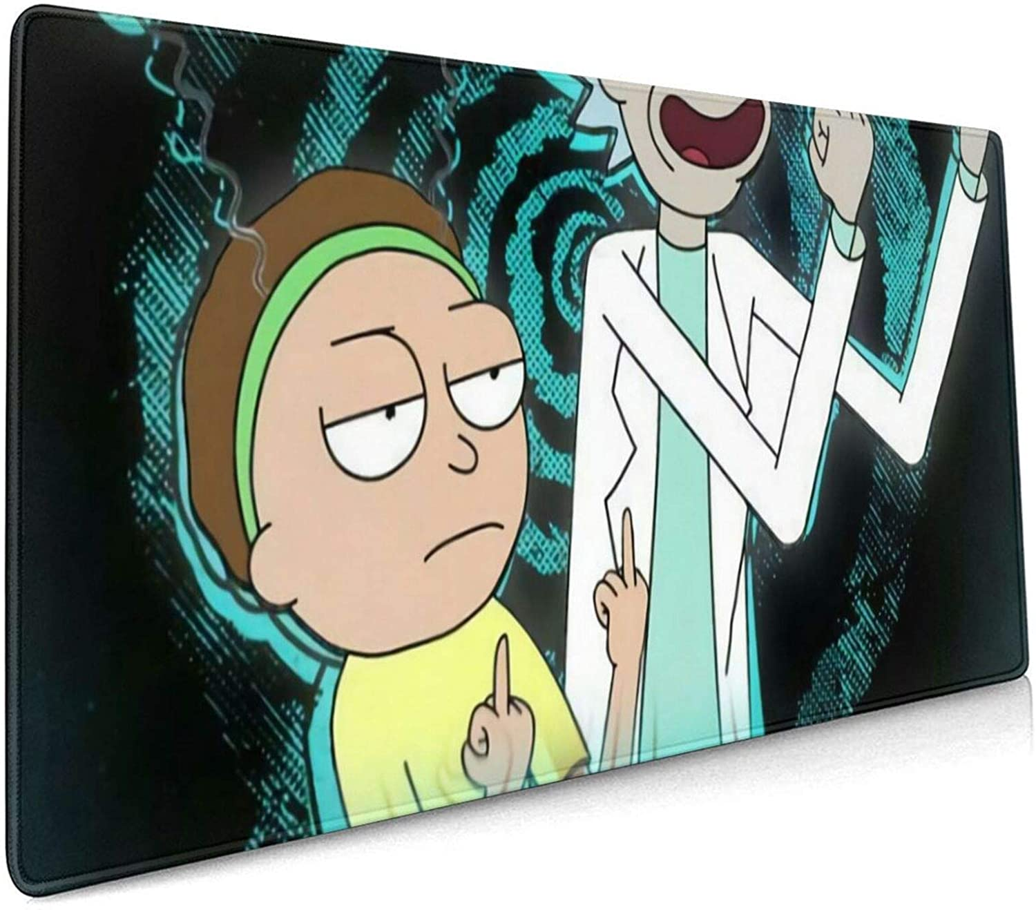 Rick and Morty Peace Among Worlds Large Gaming Mouse Pad Desk Mat Long Non-Slip Rubber Stitched Edges Mice Pads