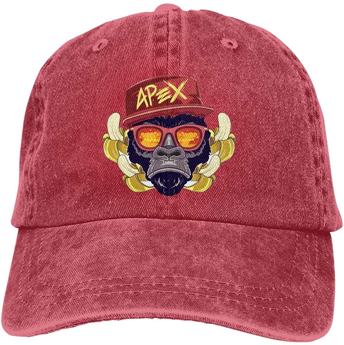 Funny Monkey and Banana Swagg Ape Stylish Gorilla Baseball Cap Unisex Washable Cotton Adjustable Dad Hat Trucker Hat