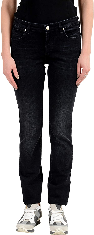 Versace Collection Embellished Women's Slim Fit Jeans Sz US 29 IT 43 Dark Blue