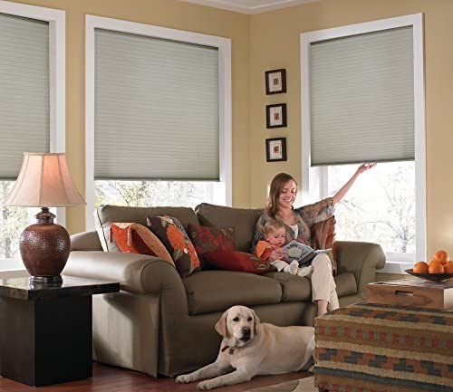 Windowsandgarden Custom Cordless Single Cell Shades, 24W x 60H, Cool Silver, Light Filtering 21-72 Inches Wide