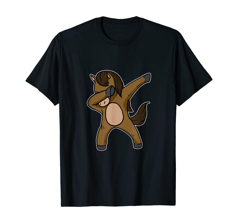 Funny Dabbing Horse Dab Dance Riding Horseback Lover Gift T-Shirt
