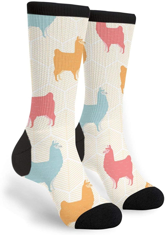 Blue Unicorn Flamingo Sloth Unisex Novelty Socks, Funny Funky Crazy Cool Crew Dress Socks